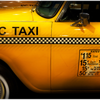A 1960s New York City Checker Taxi