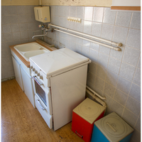 Small kitchen for the prison guards.