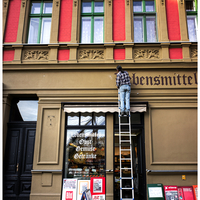 Ladder and Storefront, Berlin 2014