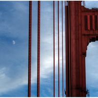 """Golden Gate Bridge and Moon"", San Francisco, USA"