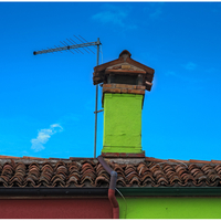 """Over the rooftop"", Burano, Italy, 2017"